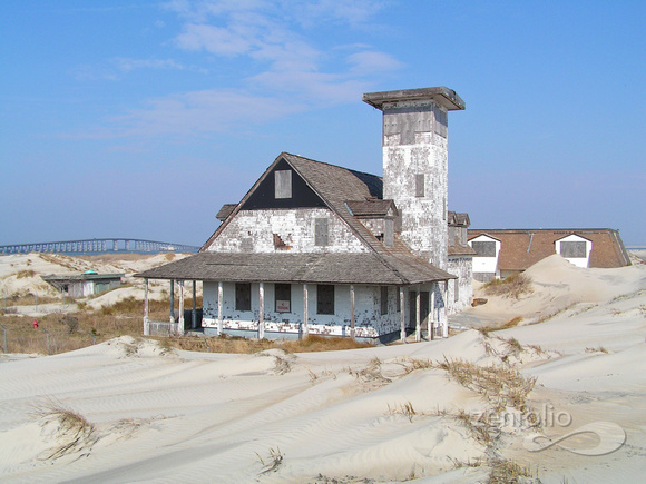 Abandoned Coast Guard Station at Pea Island